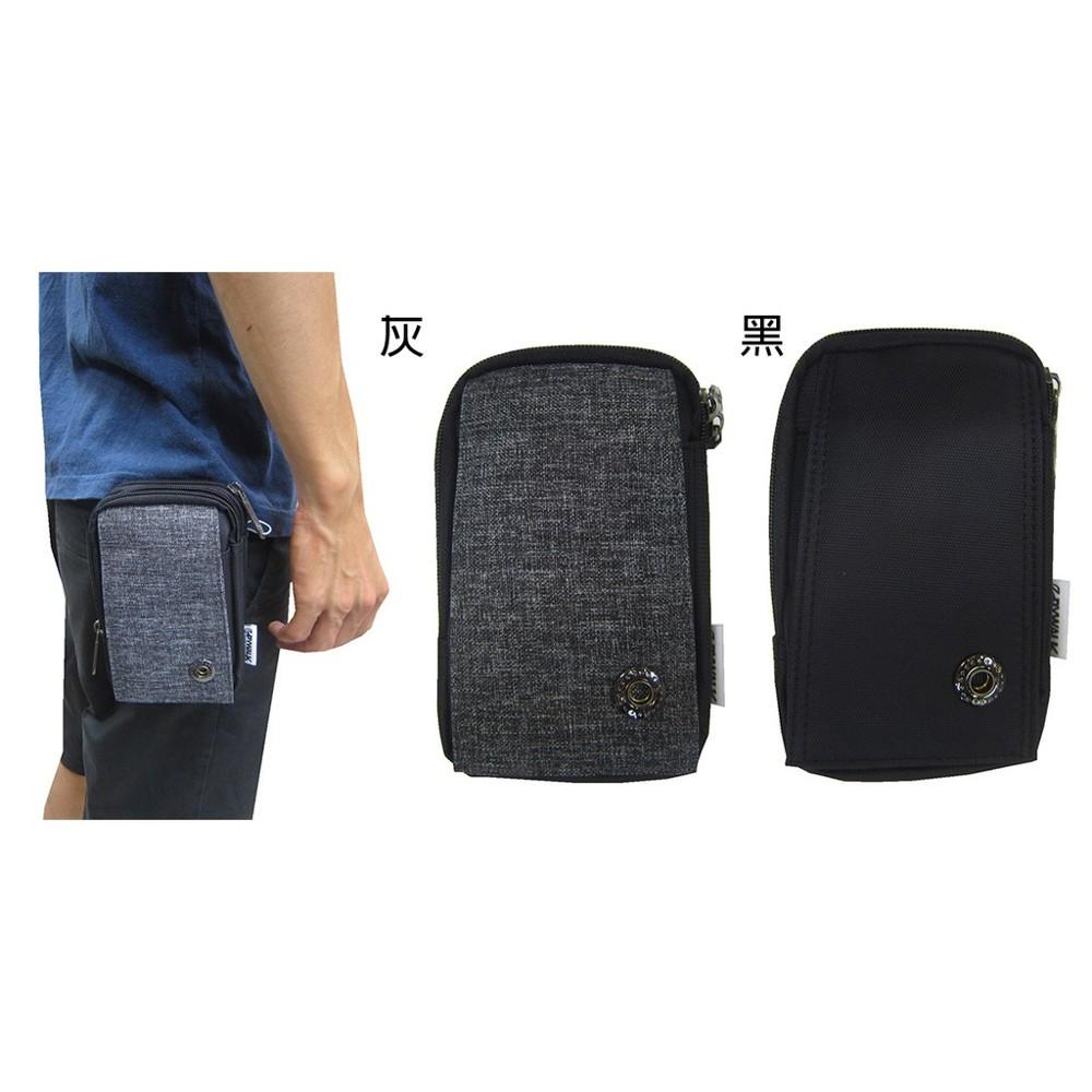 ~雪黛屋~spywalk 腰包外掛型腰包5.5寸手機適用二層主袋工作工具袋隨身物品輕便防水尼龍布可穿