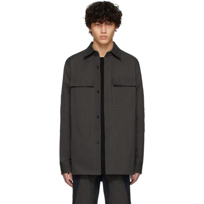 Bottega Veneta 灰色 and 海军蓝衬衫夹克