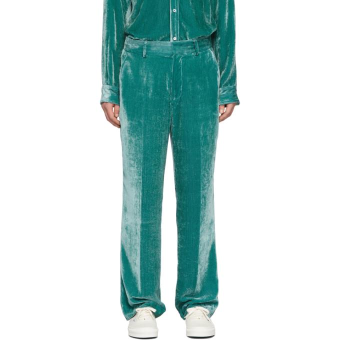Sies Marjan 绿色丝绒灯芯绒长裤