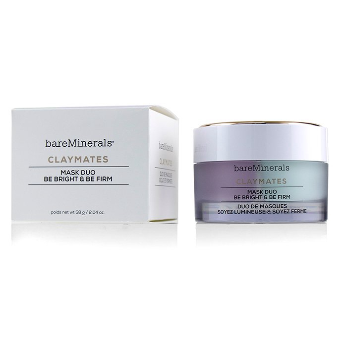 BAREMINERALS - 亮膚緊緻礦物泥面膜組Claymates Be Bright & Be Firm Mask
