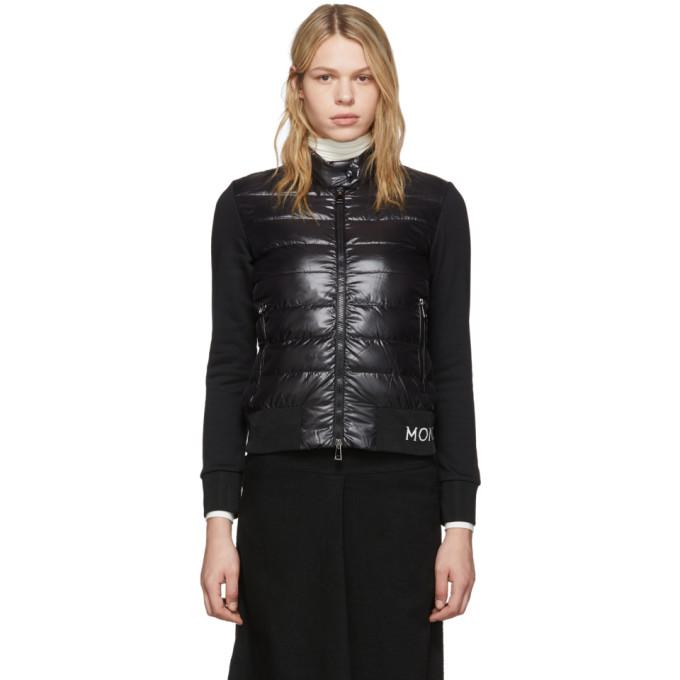 Moncler 黑色针织羽绒夹克