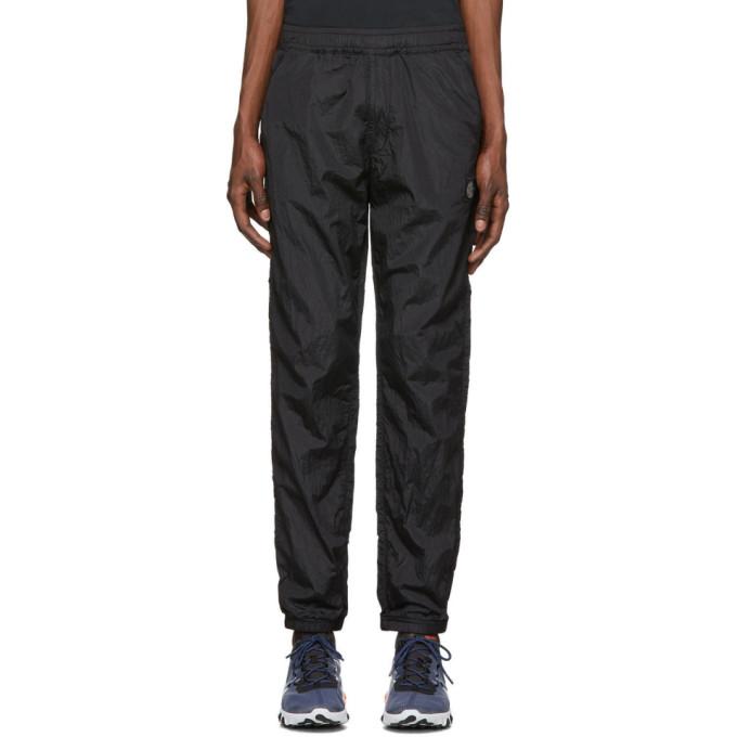 Stone Island 黑色 Nylon Metal Ripstop 运动裤