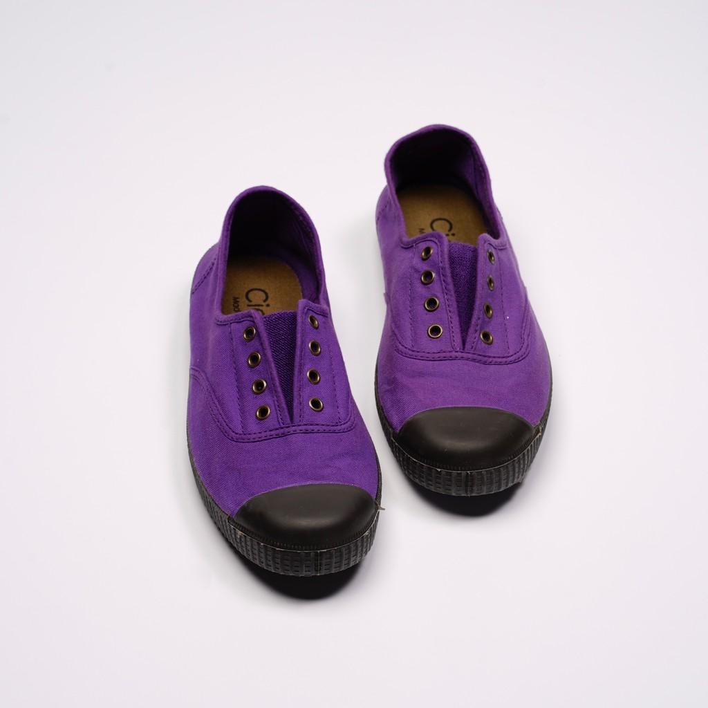 CIENTA 西班牙帆布鞋 T955997 45 紫色 黑底 經典布料 大人