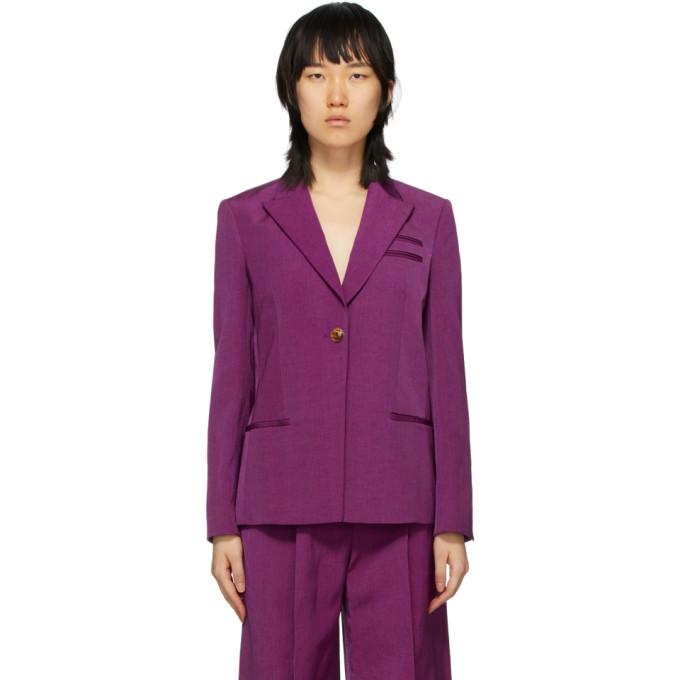 Partow 紫色 Easton 西装外套