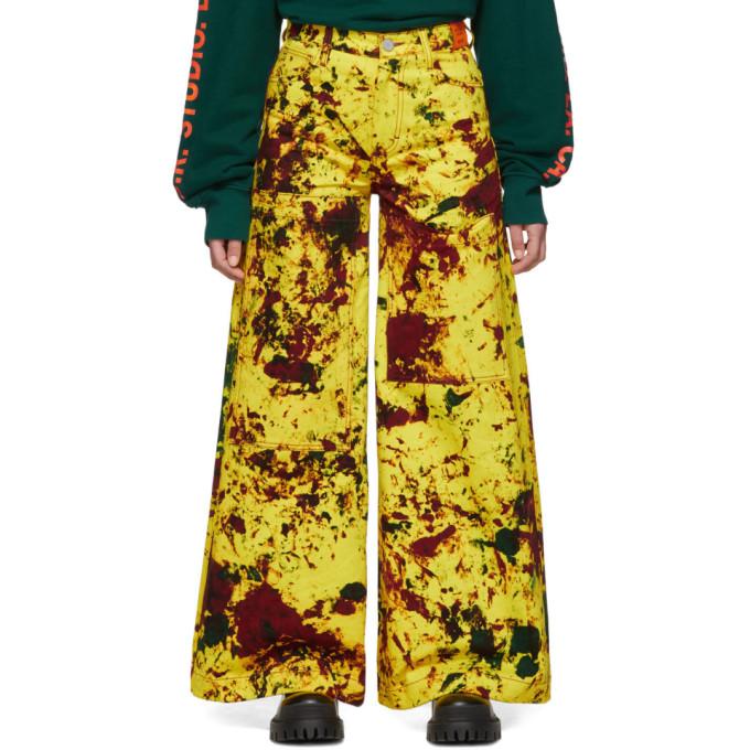 S.R. STUDIO. LA. CA. 黄色 Y.R.G. SOTO C 牛仔裤