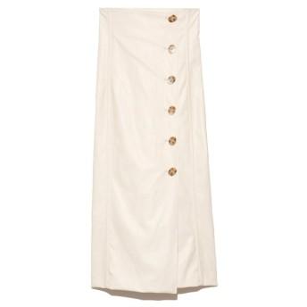 リリーブラウン ボタンラップタイトスカート レディース IVR 0 【Lily Brown】