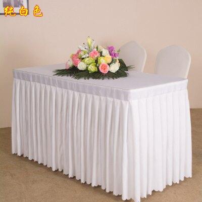 餐桌套 定制會議室桌布培訓辦公長條桌活動展會桌裙長方形圍臺裙臺布『CM2925』