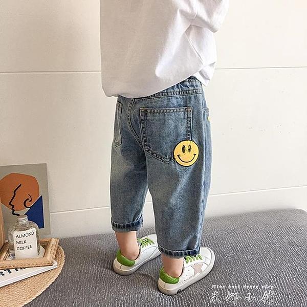男童牛仔褲2021夏季裝新款兒童時尚寬鬆洋氣七分褲小童休閒九分褲 米娜小鋪
