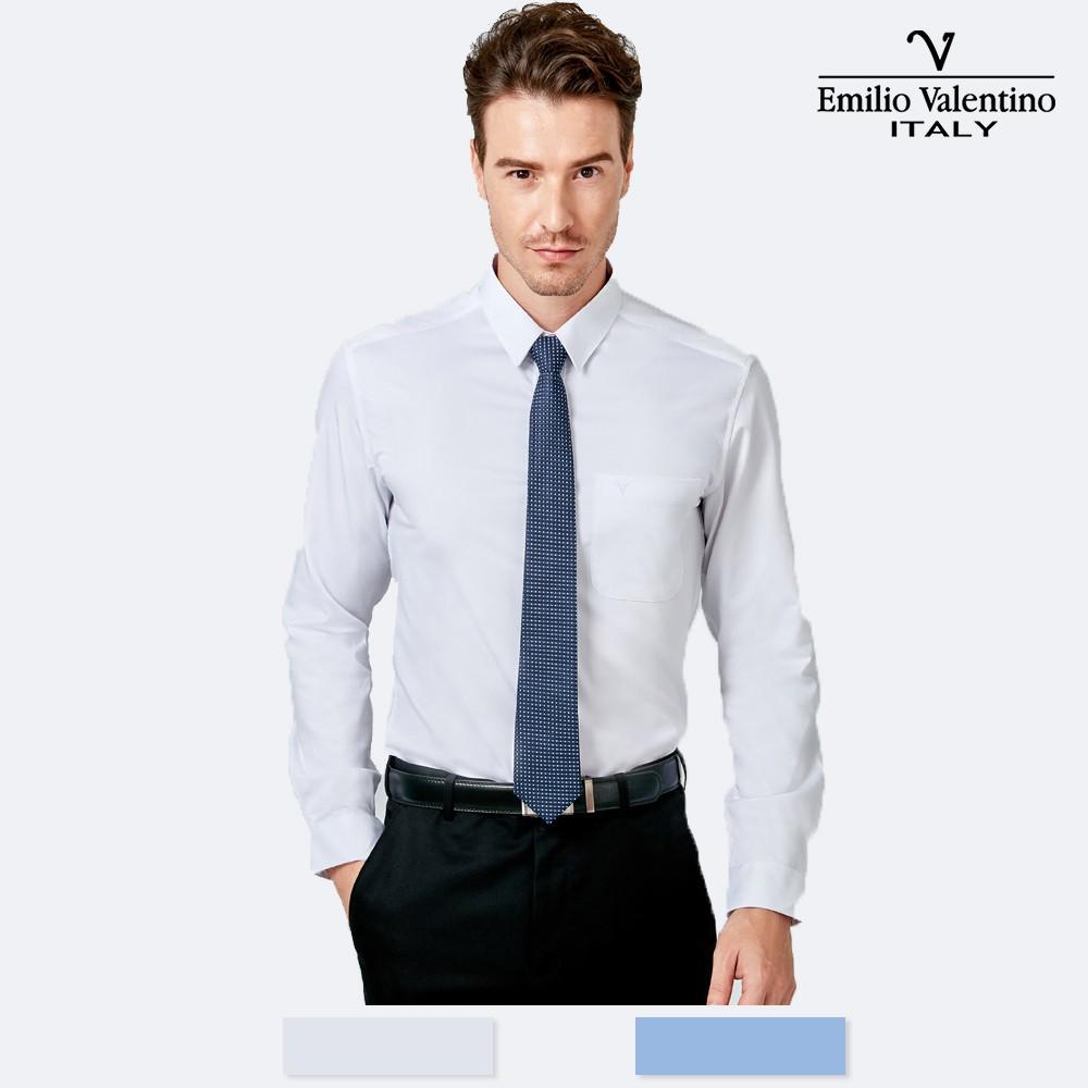 Emilio Valentino 范倫提諾竹炭機能長袖襯衫-兩色