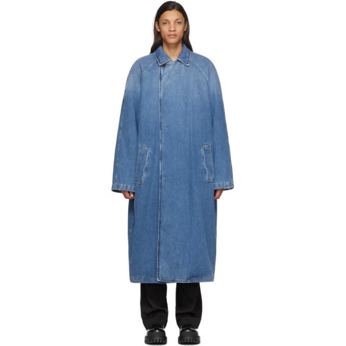 Balenciaga 靛蓝色 Big Fit 牛仔大衣
