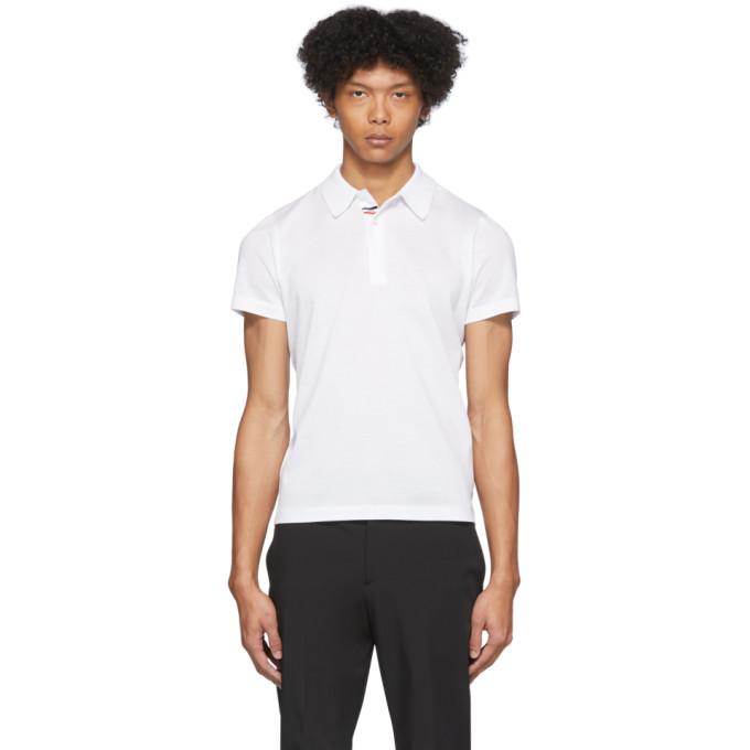 Moncler 白色珠地棉 Polo 衫