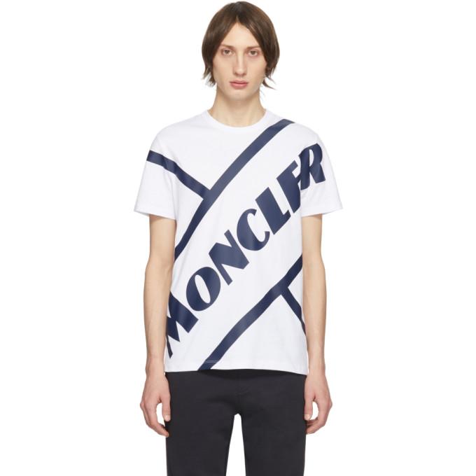 Moncler 白色 Tennis 徽标 T 恤