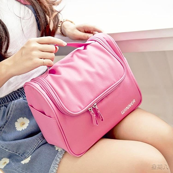 化妝包 大容量大號化妝包手提洗漱包便攜旅行化妝箱簡約化妝品收納包小號