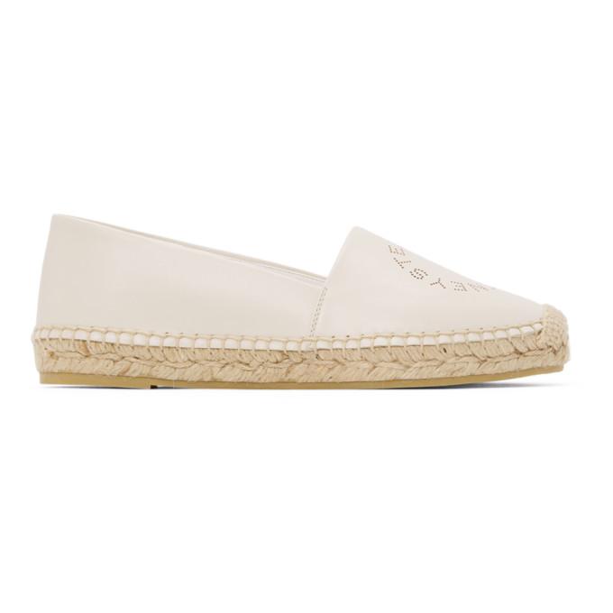 Stella McCartney 白色 Selene 徽标草编鞋