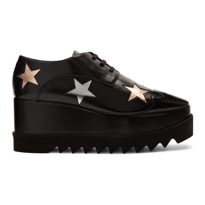 Stella McCartney 黑色 Elyse Stars 德比鞋