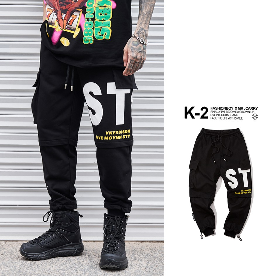 【K-2】STAR 戰術 工作褲 工裝長褲 縮口褲 休閒長褲 大口袋 街頭 穿搭 OOTD【BV8071】