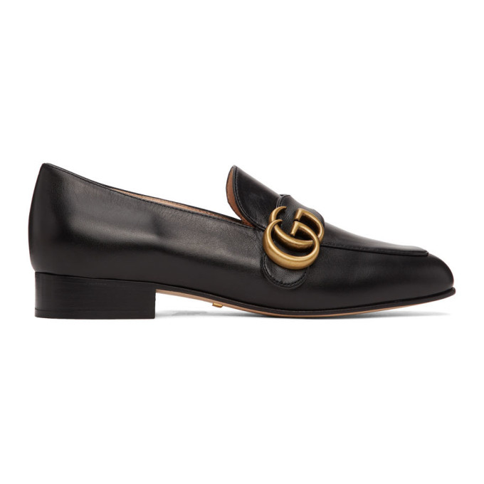 Gucci 黑色 GG Marmont 乐福鞋