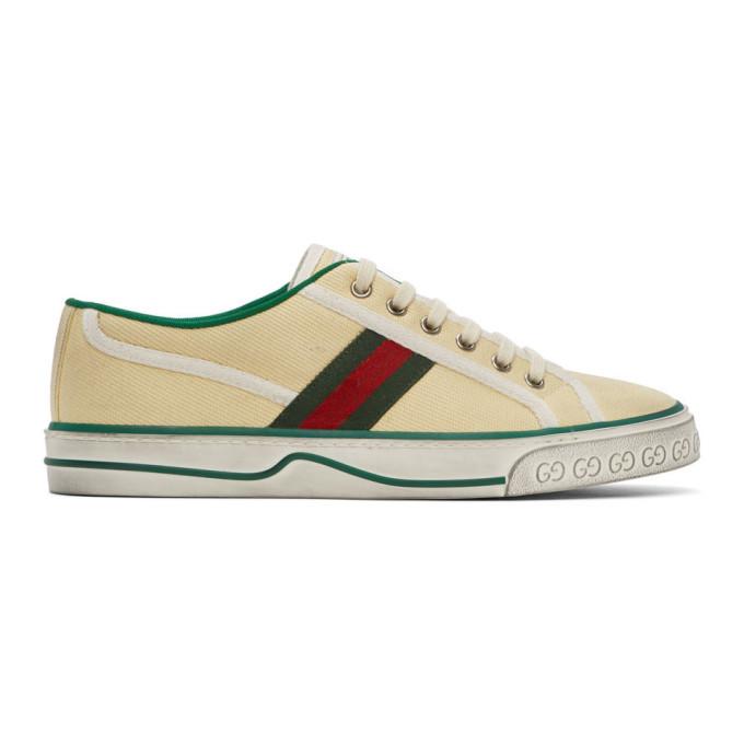 Gucci 灰白色 GG Gucci Tennis 1977 运动鞋