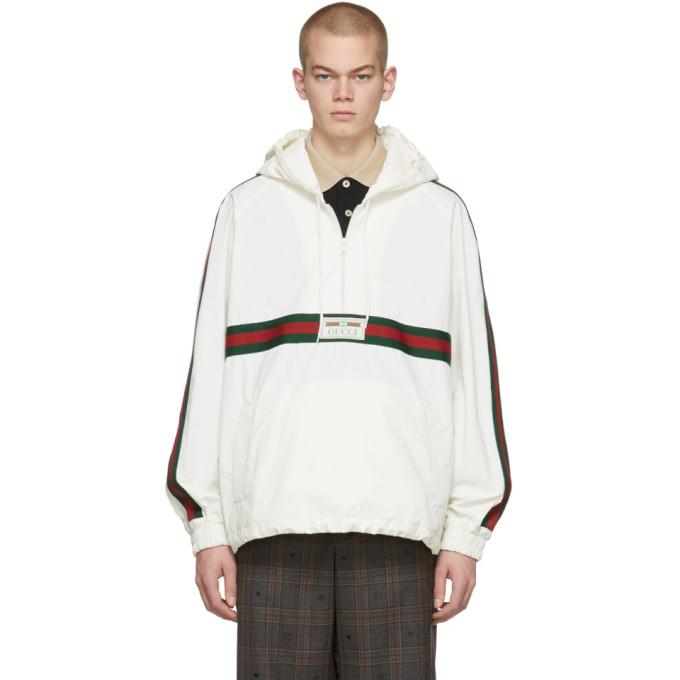 Gucci 白色棉质帆布防风夹克