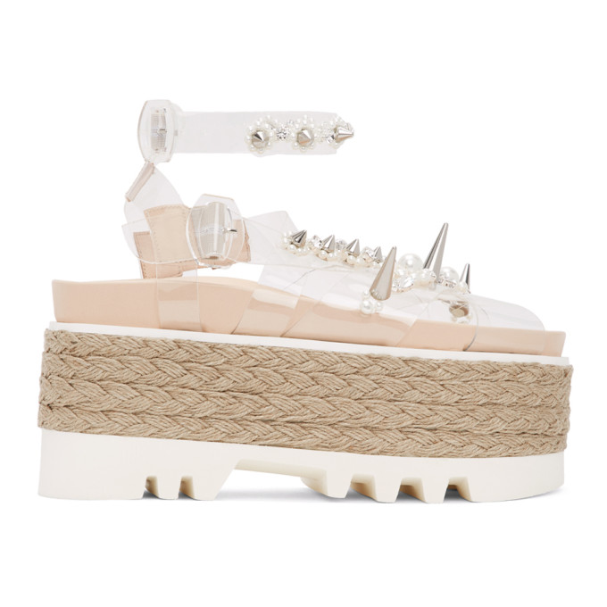 Simone Rocha 透明珍珠 PVC 厚底凉鞋