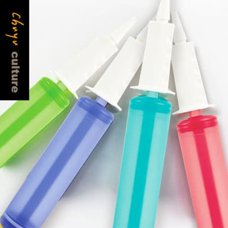 珠友 BI-03053 玩樂果凍雙向打氣筒(大)/手握式打氣筒/充氣筒/氣球打氣/派對佈置/手動充氣