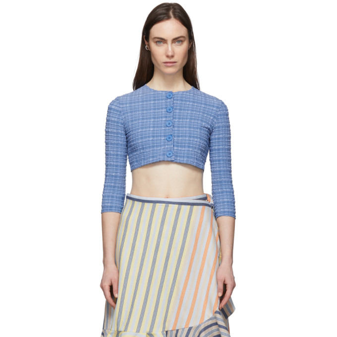 Lisa Marie Fernandez 蓝色短款泡泡纱开衫