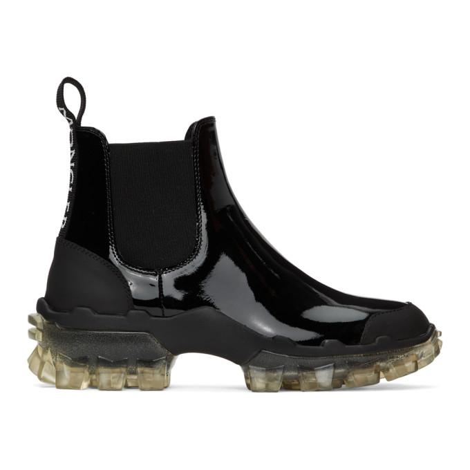 Moncler 黑色 Hanya 皮革切尔西靴