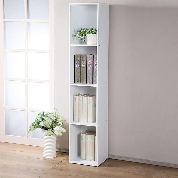 YoStyle 現代風四格置物櫃 展示櫃 櫥櫃 收納櫃 組合櫃 書櫃 床邊櫃