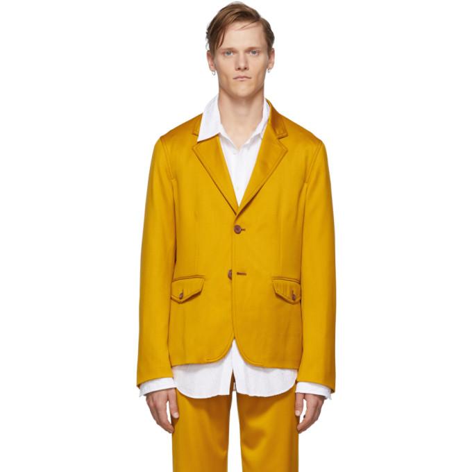 Sies Marjan 黄色 Boden 初剪羊毛斜纹西装外套