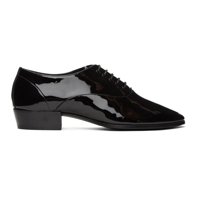 Saint Laurent 黑色 Marius 漆皮牛津鞋