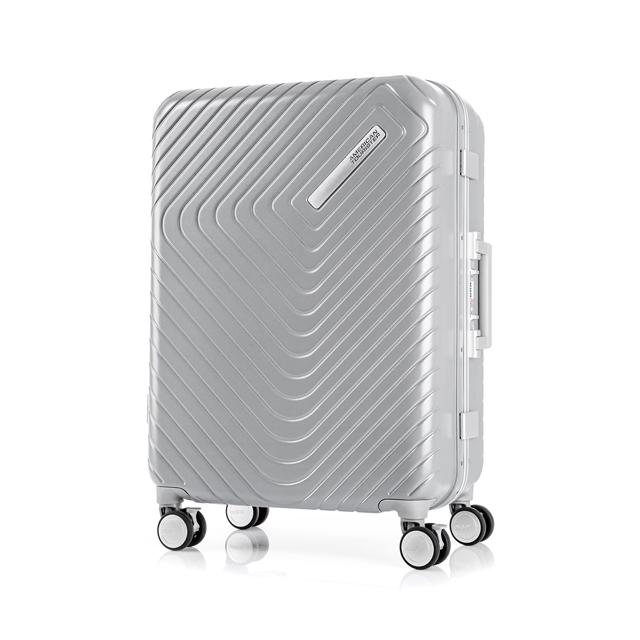 AT 美國旅行者 28吋Esquino 鋁合金細框剎車雙輪行李箱 銀 GN1*85003