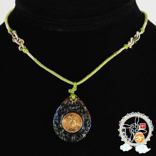 金觀音{琉璃}中國結項鍊十方佛教文物