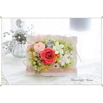 プリザーブドフラワー◇フレームアレンジ ピンク ウエディング お誕生日 記念日 お祝い 母の日 父の日