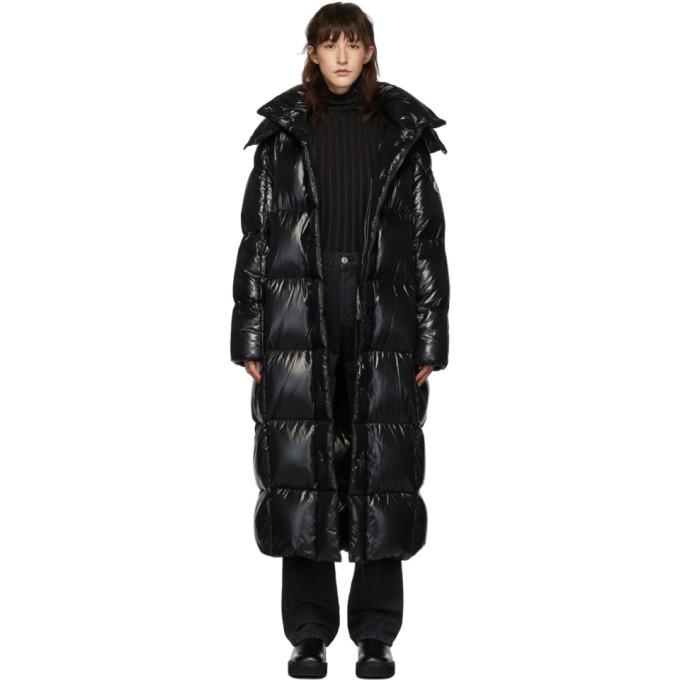 Moncler SSENSE 独家发售黑色 Parnaiba 长款羽绒大衣
