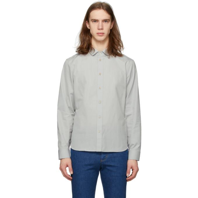 Gucci 灰白色棉质衬衫