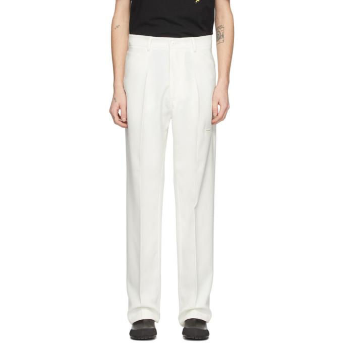 Random Identities 灰白色五袋高腰长裤