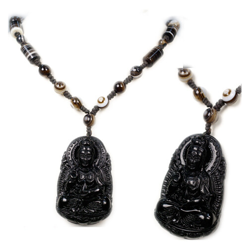 觀音黑曜石&項鍊十方佛教文物