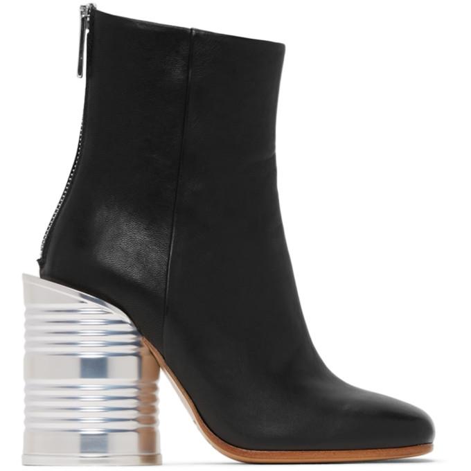 MM6 Maison Margiela 黑色 Can Heel 高跟踝靴