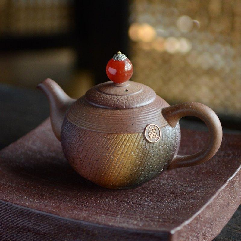 岩藏春秋茶組  紅瑪瑙點綴 典藏木盒