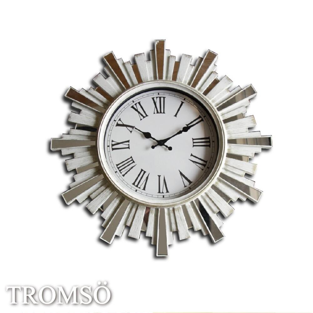 TROMSO 法式香榭 雅典陽光刷白鏡飾時鐘