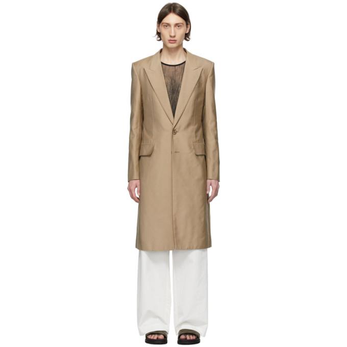 Givenchy 驼色丝棉大衣