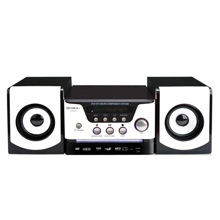 CORAL DVM328 Hi-Fi 床頭音響組 500G USB 隨插即用 DVD 高低音調節 MP3 保固