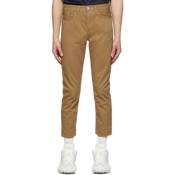 Acne Studios 棕色斜纹牛仔裤