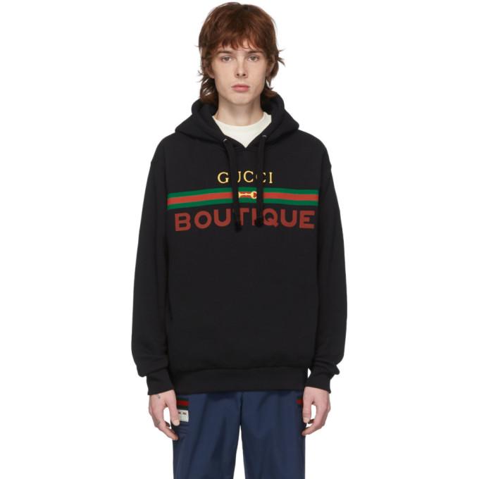 """Gucci 黑色""""Gucci Boutique""""连帽衫"""