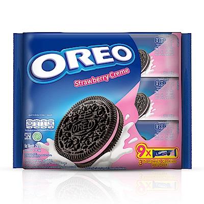OREO奧利奧草莓口味夾心餅乾隨手包(28.5gX9包)