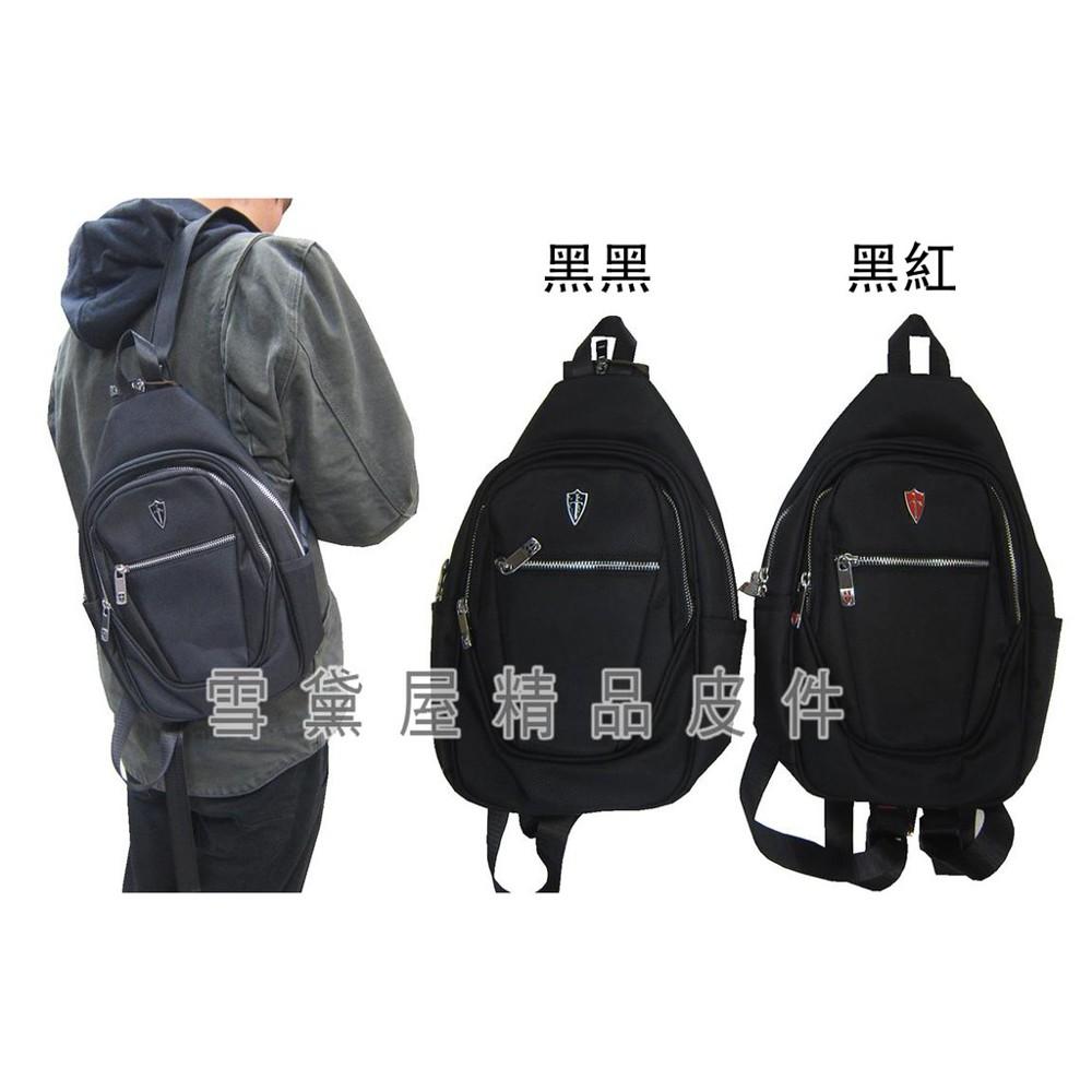 ~雪黛屋~skybow 後背包小容量單左右肩雙後背二層主袋+外袋共三層防水尼龍布二層主袋口bss50