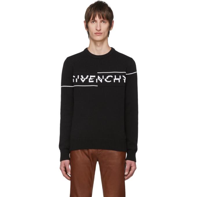 Givenchy 黑色徽标针织衫