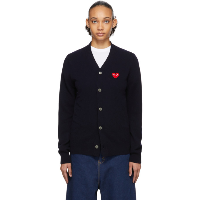Comme des Garcons Play 海军蓝 Heart Patch Mens Fit 开衫