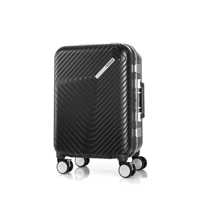 AT 美國旅行者 20吋Esquino 鋁合金細框剎車雙輪登機箱 黑 GN1*07001