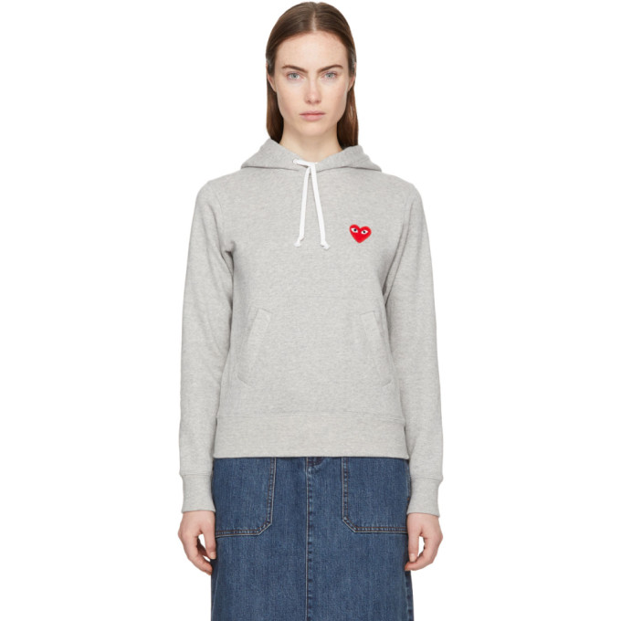 Comme des Garcons Play 灰色 Heart Patch 连帽衫